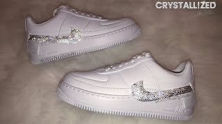 Swarovski Crystal Nike Air Sneakers Crystallized Women's Shoes Bling by CRYSTALL!ZED by Bri Running