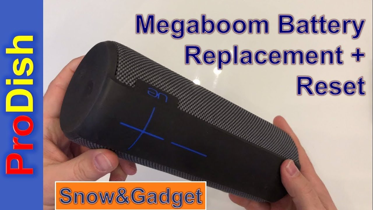 Megaboom Battery Replacement + Reset and it charges again :)