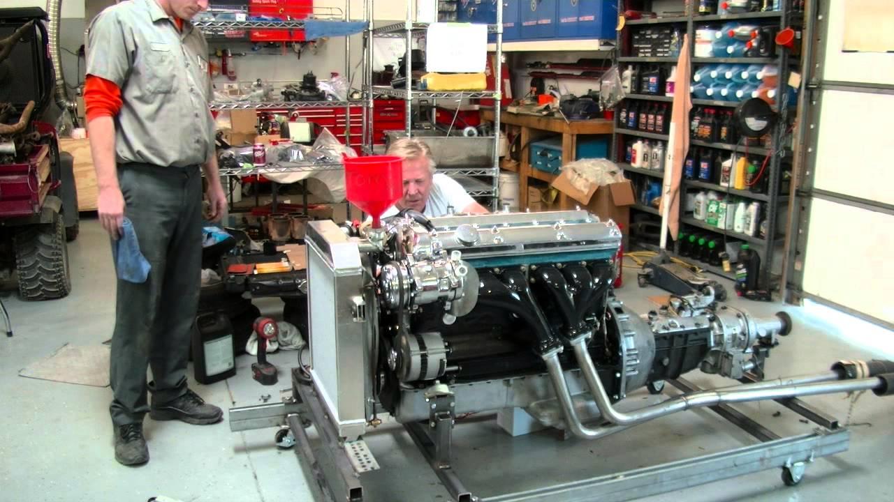 1964 Jaguar Mk2 3 8l Straight 6 Motor Starting For First