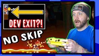 Bested by a DEV EXIT?! Mario Maker Super Expert NO SKIP Challenge! [BTG]