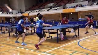 【#森山杯】全九州優勝ベテランペアの技。 団体ダブルス 卓球~table tennis~