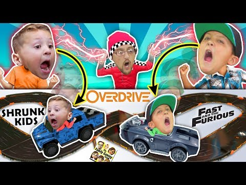 Thumbnail: Fast & Furious Car Chase! Magic Boy Traps Kids in ANKI OVERDRIVE RACE TRACK BATTLE FGTeeV CHALLENGE!