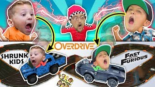 Fast & Furious Car Chase! Magic Boy Traps Kids in ANKI OVERDRIVE RACE TRACK BATTLE FGTeeV CHALLENGE!
