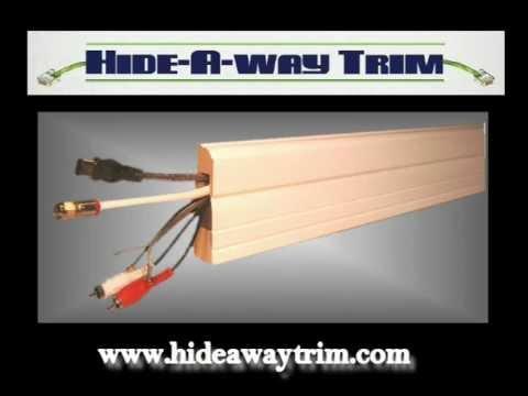 Hide Away Trim Wiring Molding on