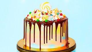 🍰 Шоколадный Торт Размытая Радуга ♥ Как Собрать и Украсить Торт ♥ Рецепты NK cooking