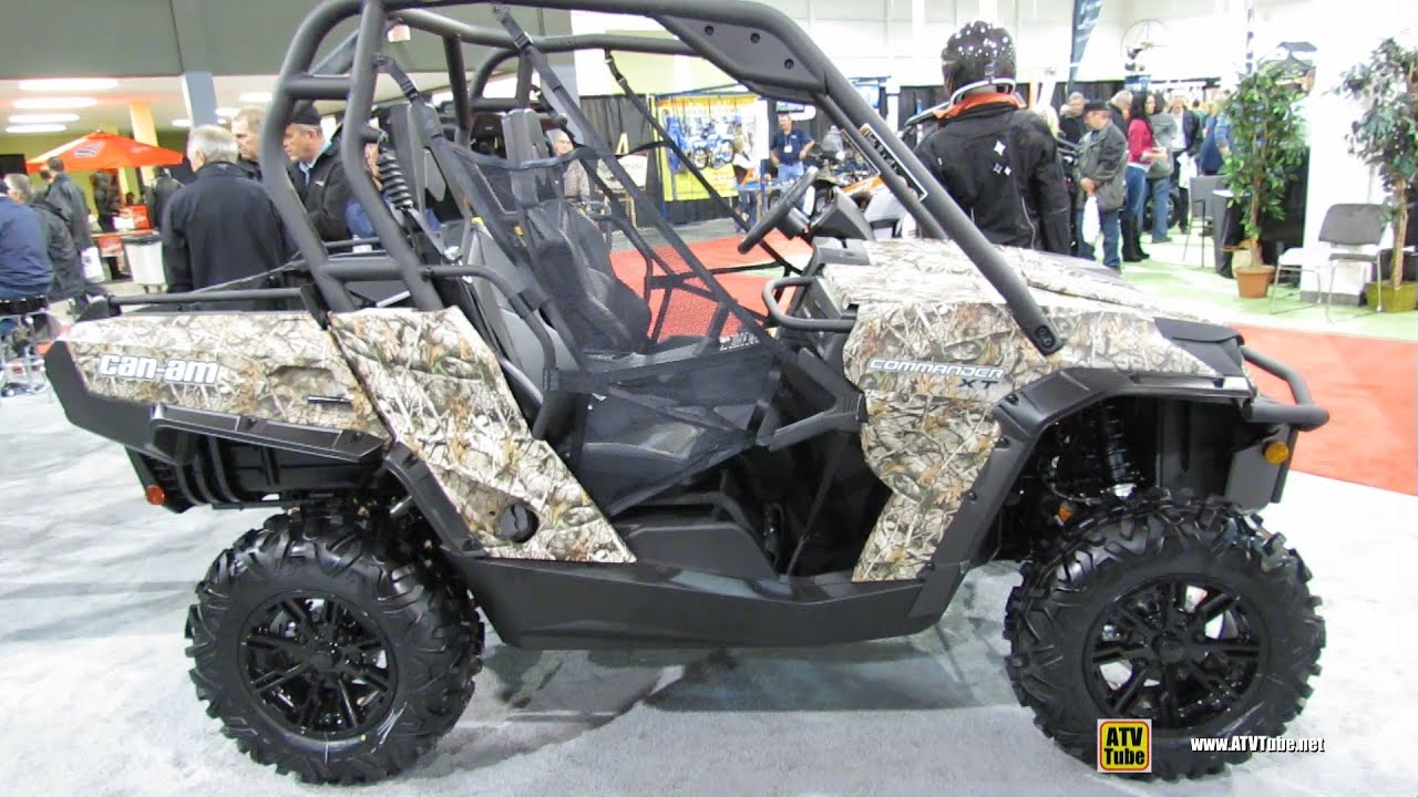 Can Am Commander For Sale >> 2013 Can-am Commander XT 1000 Camo Side by Side ATV - Exterior and Interior Walkaround - YouTube