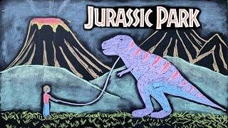Jurassic Park ♫ Relaxing Music + Chalk Art