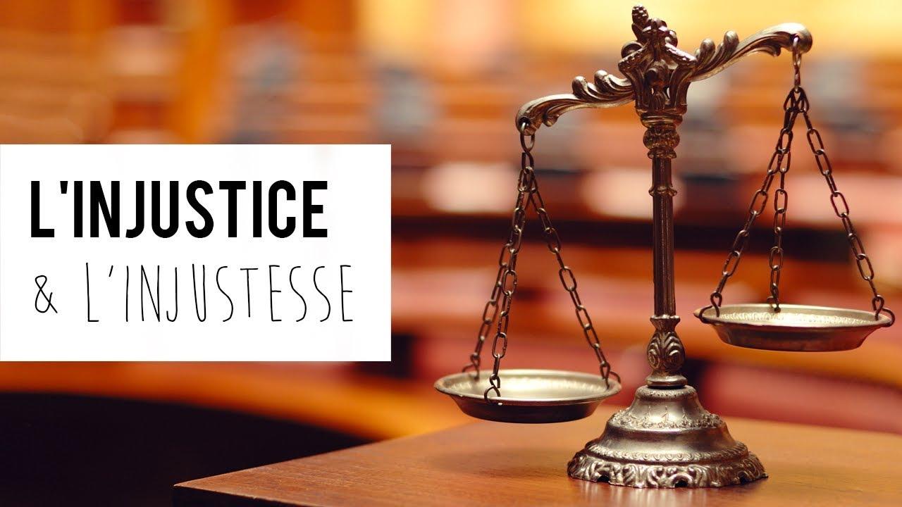 La diff rence entre l 39 injustice et l 39 injustesse youtube - Difference entre extracteur et centrifugeuse ...