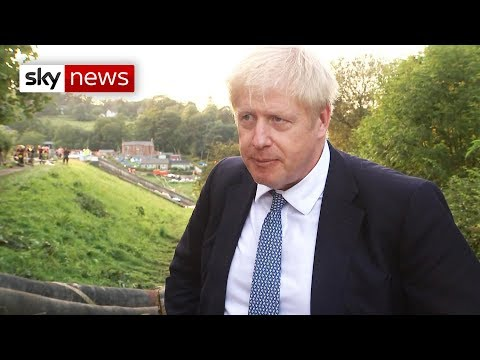 Boris Johnson says the dam is 'dodgy but stable'
