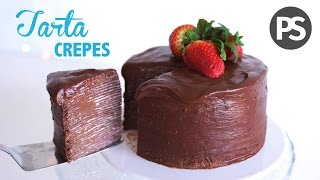 TARTA DE CREPES & CHOCOLATE | FÁCIL, LIGERA Y SALUDABLE