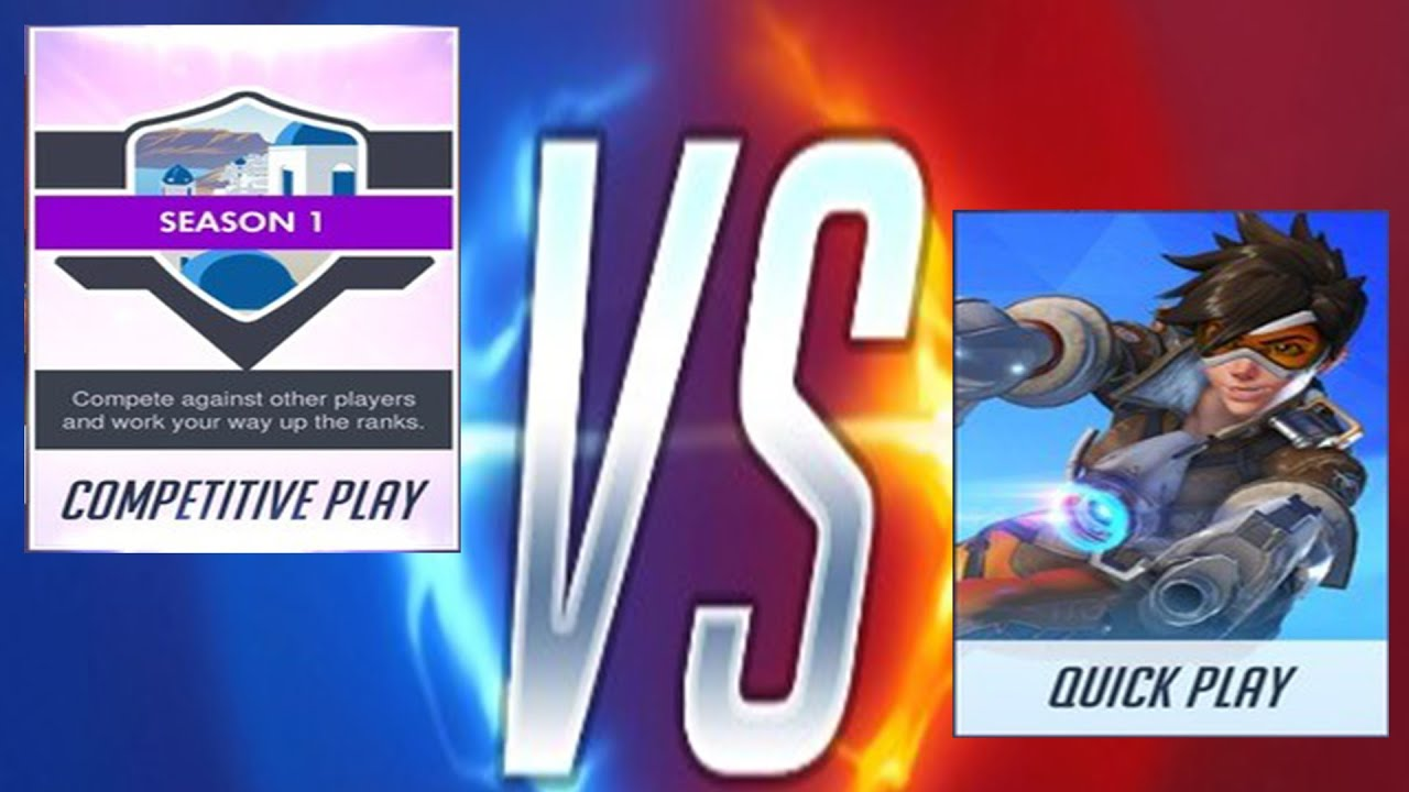 Overwatch Competitive Play Vs Quickplay Mehehe Youtube