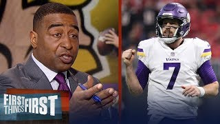 Cris Carter reveals how Case Keenum can lead Vikings to the Super Bowl | FIRST THINGS FIRST