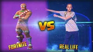 Fortnite - Dances In Real Life vs Dances in Fortnite