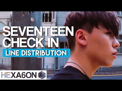 Seventeen - Check In Line Distribution (Color Coded)