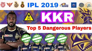 IPL 2019 KKR ,Top 5 Dangerous Players To Play In Playing11 |My Cricket Production