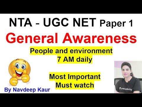 General awareness people & environment Paper 1 for JUNE 2019
