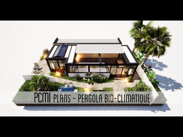 Pergola Bio-climatique de 39m² | PCMI Plans