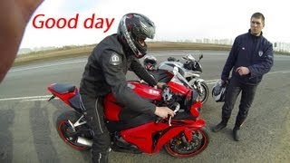 Honda Cbr1000RR Fireblade 08, Cbr600RR and VFR800- one of the good days of bikers(Видео про то как мы отлично проводим время ездя на мотоциклах. В этом видео я немного делал стойку на заднем..., 2013-05-03T00:37:24.000Z)