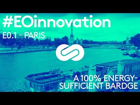 #EOinnovation - Energy Observer meets a 100% energy-sufficient bardge in Paris