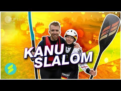Die Sportmacher - Stefan und Zoe Jakob beim Kanuslalom   ZDFtivi