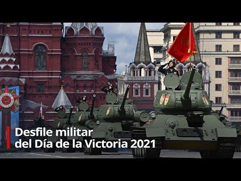 Desfile militar en honor al Día de la Victoria en la Gran Guerra Patria en la Plaza Roja de Moscú
