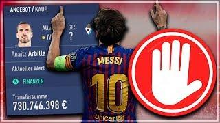 So VERLIERST Du 700 MIO € im KARRIEREMODUS !? 🔥 | FIFA 19 Karriere Experiment