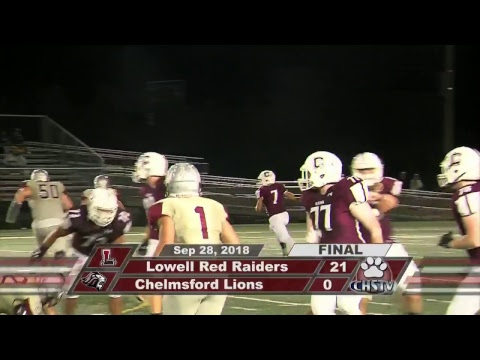 CHS Lions Varsity Football vs Lowell Sept. 28, 2018
