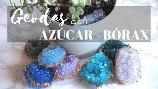 Geodas de azúcar y bórax (DIY geode borax crystals)