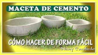CÓMO HACER MACETAS DE CEMENTO DE FORMA FÁCIL