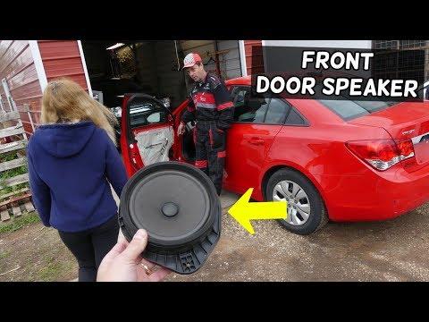 CHEVROLET CRUZE FRONT DOOR SPEAKER REPLACEMENT REMOVAL. RADIO SPEAKER NOT WORKING CHEVY CRUZE