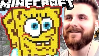 IRAPHAHELL IA LOCUL 1 PE MINECRAFT BUILD BATTLE PE SPONGEBOB!