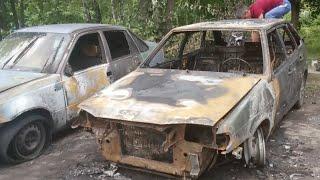 Сгорело 3 Машины в Тульской области в результате поджога.