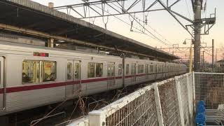 東武鉄道30000系31411F+31611F高坂駅発車シーン