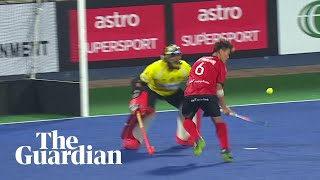 Hockey player produces incredible flick and lob to win penalty shootout