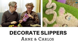 How to decorate slippers - by ARNE & CARLOS