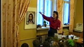 """Фрагмент урока рисования в 1 классе. Тема: """"Портрет"""". 1993 год"""