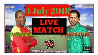 Live match pak vs zim 2018 || TRISERIES || how to watch live on mobile 2018