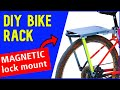 How to make a Bike Rear Rack w a MAGNETIC U-lock Mount! (no welding)