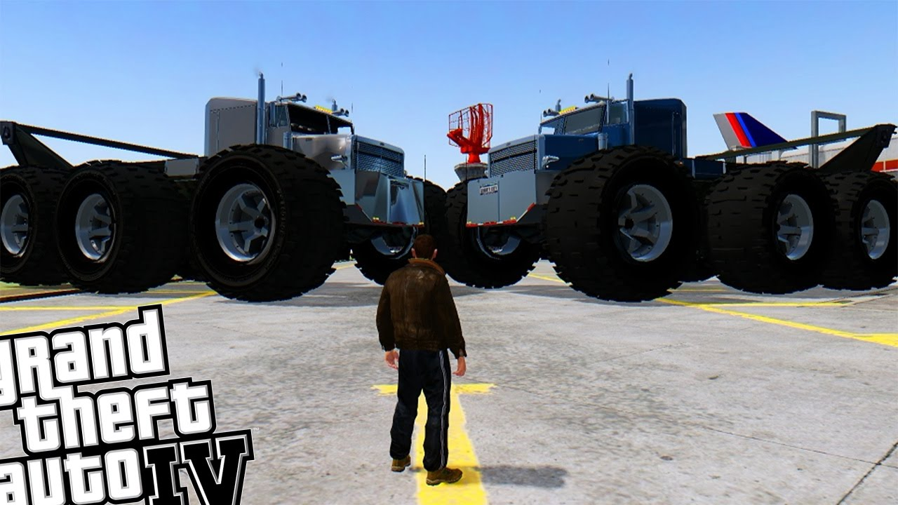 GTA 4 - Worlds Biggest MONSTER TRUCK! (GIANT MONSTER TRUCK ...