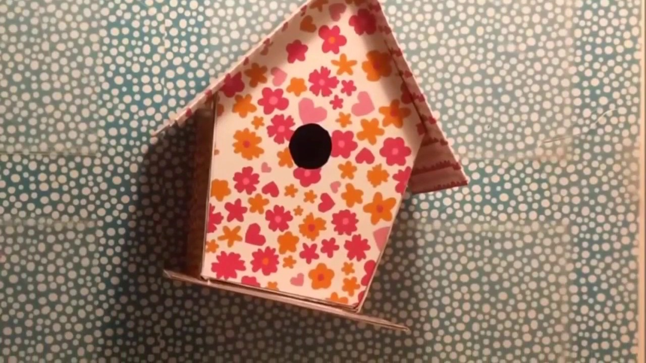 DIY Bird House Dots Design