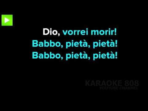O mio babbino caro Gianni Schicchi ~ G  Puccini Karaoke Version ~ Karaoke 808