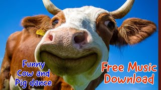 Funny Cow and Pig dance : Free Music Download