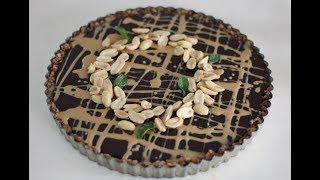 Vegan Peanut Butter and Chocolate Tart - Magda