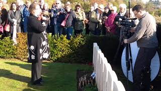 The Last Post, played at Wilfred Owen's grave, 4 November 2018.