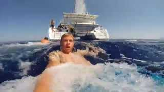 Diving and sailing in Greece on the Rubikon catamaran