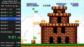 SMB1 Warpless All-Stars Speedrun with Live Commentary | Tournament Practice