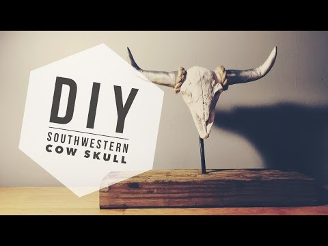 DIY - SOUTHWESTERN COW SKULL - CHEAP!