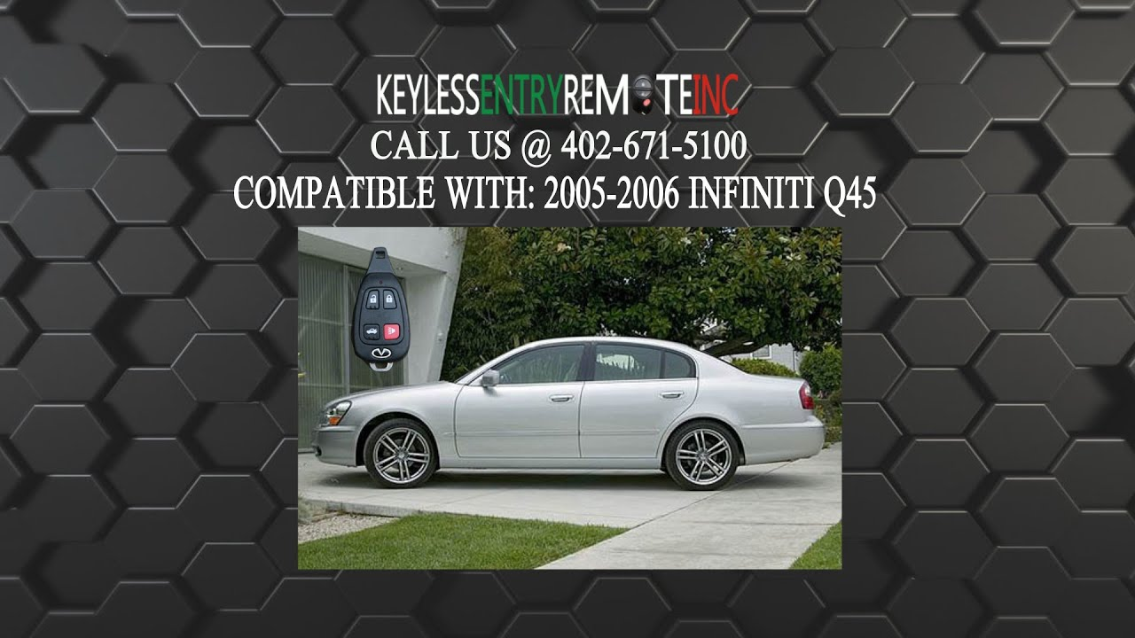 How To Replace Infiniti Q45 Key Fob Battery 2005 2006 Youtube Remote