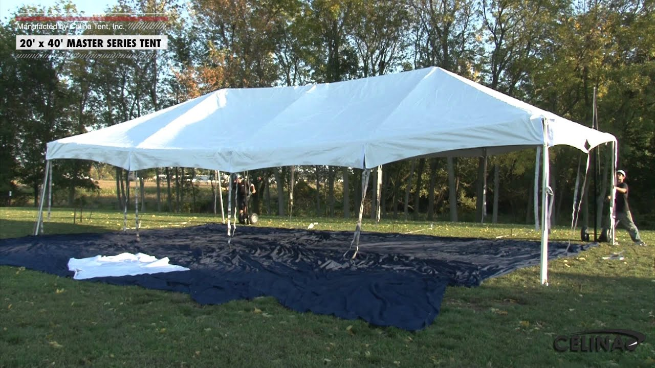 & 20 x 40 Master Series Frame Tent - Installation Procedure - YouTube