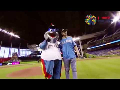 Kane Williamson's first pitch at the Miami Marlins
